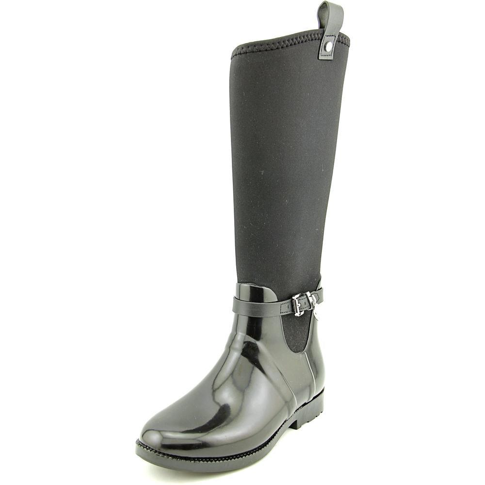 Michael Michael Kors Charm Stretch Rainboot Women US 8 Black Rain Boot