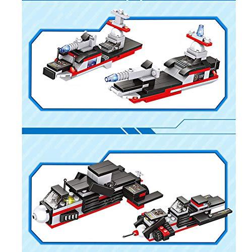 ANGLE Compatible con el Equipo de portaaviones Lego Modelo 8 en 1 Ciudad de policía Militar montado Bloques de construcción Juguete Puzzle montado niño 6 +: ...