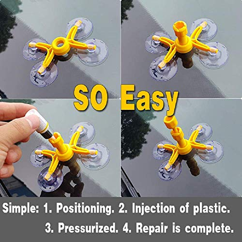 Windshield Repair Kit by Clearshield - DIY Auto Glass Rock Chip Repair Kit for Star Horseshoe Bull's Eye Chips or Cracks - No Need to Replace the Whole Windshield - with Instructions (3 Pack) by Clearshield (Image #6)