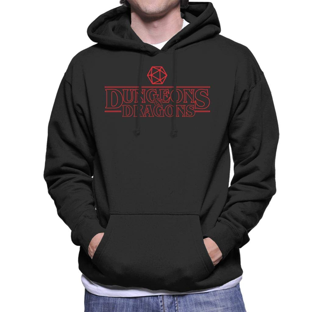Cloud City 7 Dungeons and Dragons Stranger Things Font Mix Mens Hooded Sweatshirt
