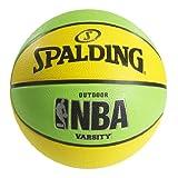 "Spalding NBA Varsity Neon Outdoor Basketball - Green/Yellow - Official Size 7 (29.5"")"