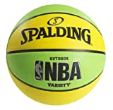 Spalding NBA Varsity Neon Outdoor Basketball - Green/Yellow - Official Size 7 (29.5')