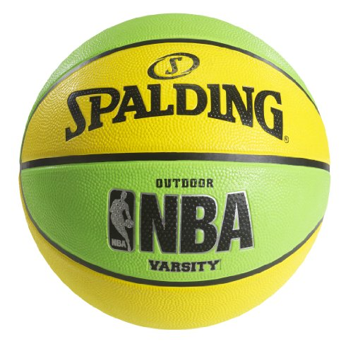 Spalding NBA Varsity Neon Outdoor Basketball - Green/Yellow - Official Size 7 (29.5