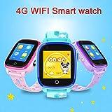 feiledi Trade Kids Smartwatch - 4G Smart Watch 512M+4G IP67 Waterproof GPS WIFI Postioning SOS Remote Monitor Smartwatch with Camera Support SIM Card for Girls Boys (Purple)