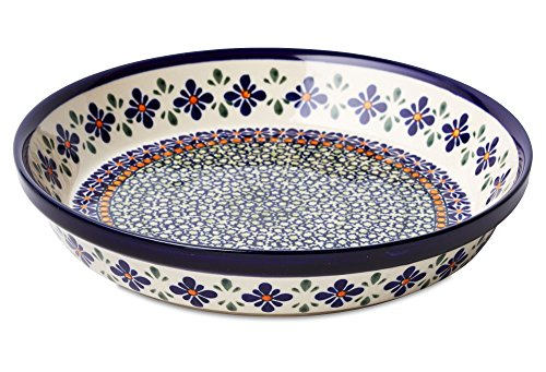 Polish Pottery Mosaic Flower Pie Plate