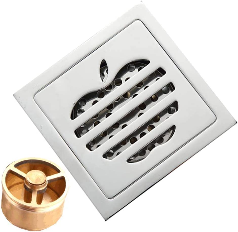 Stainless Floor Drain Bathroom Kitchen Square Shower Waste Grate Drainer #4