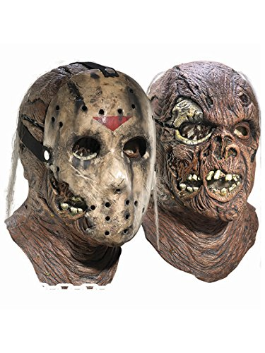 Friday The 13th Part 7 New Blood Jason Voorhees Deluxe Overhead Mask, Brown ,One Size]()