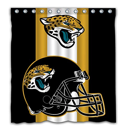 - Potteroy Jacksonville Jaguars Team Simple Design Shower Curtain Waterproof Polyester Fabric 66x72 Inches