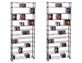 Maxsteel 12 Tier Steel Wire Shelving for 864 CD/450 DVD/BluRay/Games Media Silver (Pack of 2)