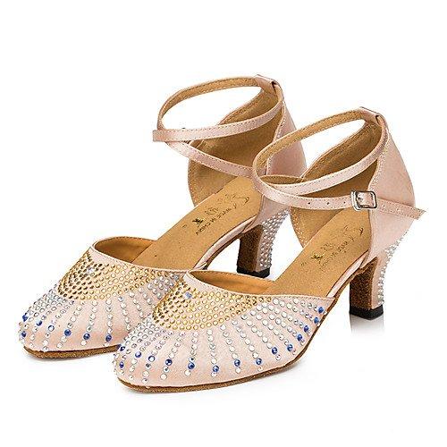 de Modernos Salsa Q Sandalias Zapatos Jazz Performance Tacón Mujer Desnudo Zapatos Latinas de T Swing de Baile Indoor T Tango Zapatos Grueso Practice Cuero de 8Z0qwvT5