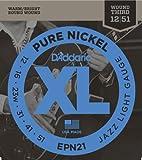 D'Addario EPN21 Pure Nickel Electric Guitar Strings, Jazz Light, .012-.051