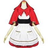 Qichuhua Women's Cute Little Red Riding Hood Maid Costume