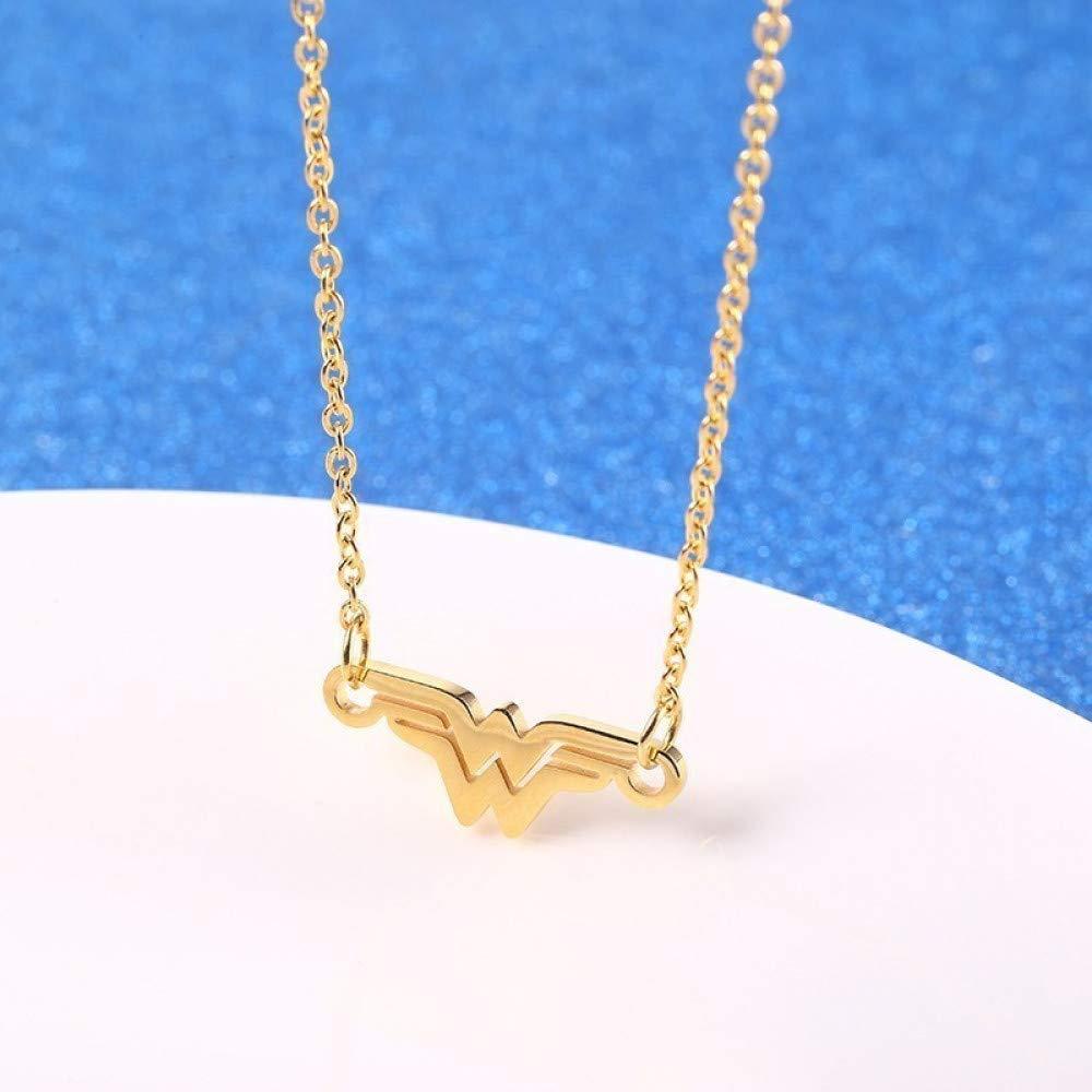 Accesorios Personalizados Collares Collar de Mujer Superh/éroe Colgante de Oro Superh/éroe Maravilla Thumby Oro Collares Joyas en Acero Inoxidable