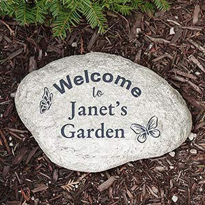 Gifts Engraved Personalized Butterfly Garden Stone