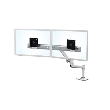 Ergotron 45 489 216 LX Desk Mount Dual Direct Arm In White For 2
