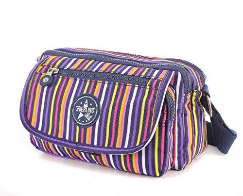 Sterling Rye - bolso bandolera unisex mujer Multicoloured stripes