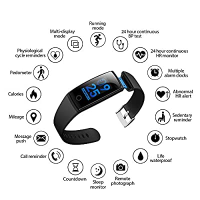 Fitness Tracker Watch,Fitness Tracker With Heart Rate Monitor,DIGI-YOUNG Activity Tracker Smart Band With Blood Pressure,Colorful Screen,Step Counter,Sleep Monitor,GPS Tracker