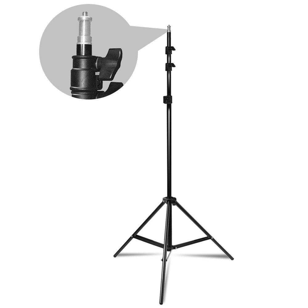 LimoStudio Photo Video Studio, Max 20 ft. Wide, Length Adjustable Photo Background Muslin Backdrop Support System with 3 Stands, Photography Studio, AGG2279 by LimoStudio (Image #3)