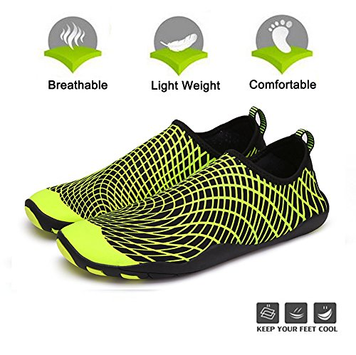 Aerobics Quick Shoes Barefoot Yoga Water Shoes Swim Aqua Sports Womens Mens Socks Beach Surf Shoes Water for Yellow Dry Pool RqwwSX6x