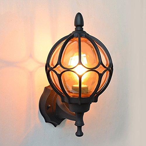 AOKARLIA Premium Outdoor Wall Lights, Retro Sconce Lamp/Courtyard Waterproof Light/Europe Villa Lights - E27,Black