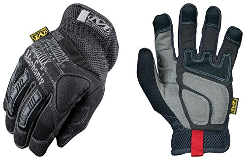 Black Pro-FitTM Series 3 Impact Protection Gloves With Non-Slip Dual Layered Zeus Clarino® Panel And On-Off Pull-Tab