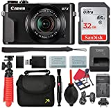 : Canon PowerShot G7 X Mark II Digital Camera 4.2x Optical Zoom + 32GB SD + Spare Battery + Complete Accessory Bundle