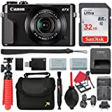 Canon PowerShot G7 X Mark II Digital Camera 4.2x Optical Zoom + 32GB SD + Spare Battery + Complete Accessory Bundle