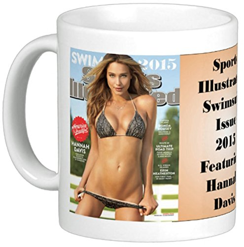 Sports Illustrated Swimsuit Issue 2015 Cover Reproduced on Coffee Mug Featuring Hannah Davis