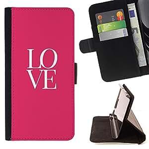 BullDog Case - FOR/Sony Xperia Z2 D6502 / - / love text pink white valentines kiss /- Monedero de cuero de la PU Llevar cubierta de la caja con el ID Credit Card Slots Flip funda de cuer