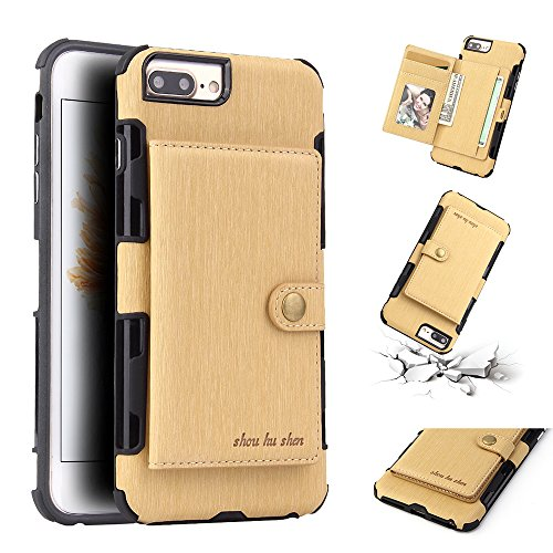 - Torubia iPhone 6 Plus iPhone 6s Plus Genuine Leather Wallet Case Cover, Flip Stand, Card Slot, Stylish, Golden