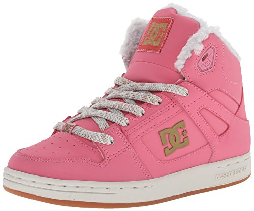 DC Rebound WNT Skate Shoe (Little Kid/Big Kid), Rose Shadow, 7 M US Big Kid