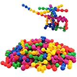 Star Flex Create Puzzle and Sunflower Blocks Interlocking Play Set for Kids Educational Alternative to Building Blocks -A Great STEM Toy -Safe Kids Material(with Storage Bag)