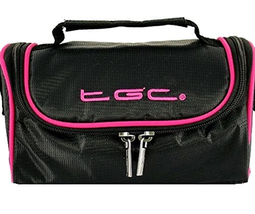 Bolso para Mujer Jet Negro al Black TGC Hombro With Pink Trims Rosa Pastel Hot dwadt