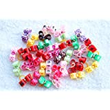 Yagopet 30pcs/pack Dog Puppy Hair Bows Topknot Rubber Bands Cute Pet Small Pet Hair Bows with Rhinestones Mix Colors Bows for Holidays Pet Dog Grooming Bows Supplies Dog Hair Accessories