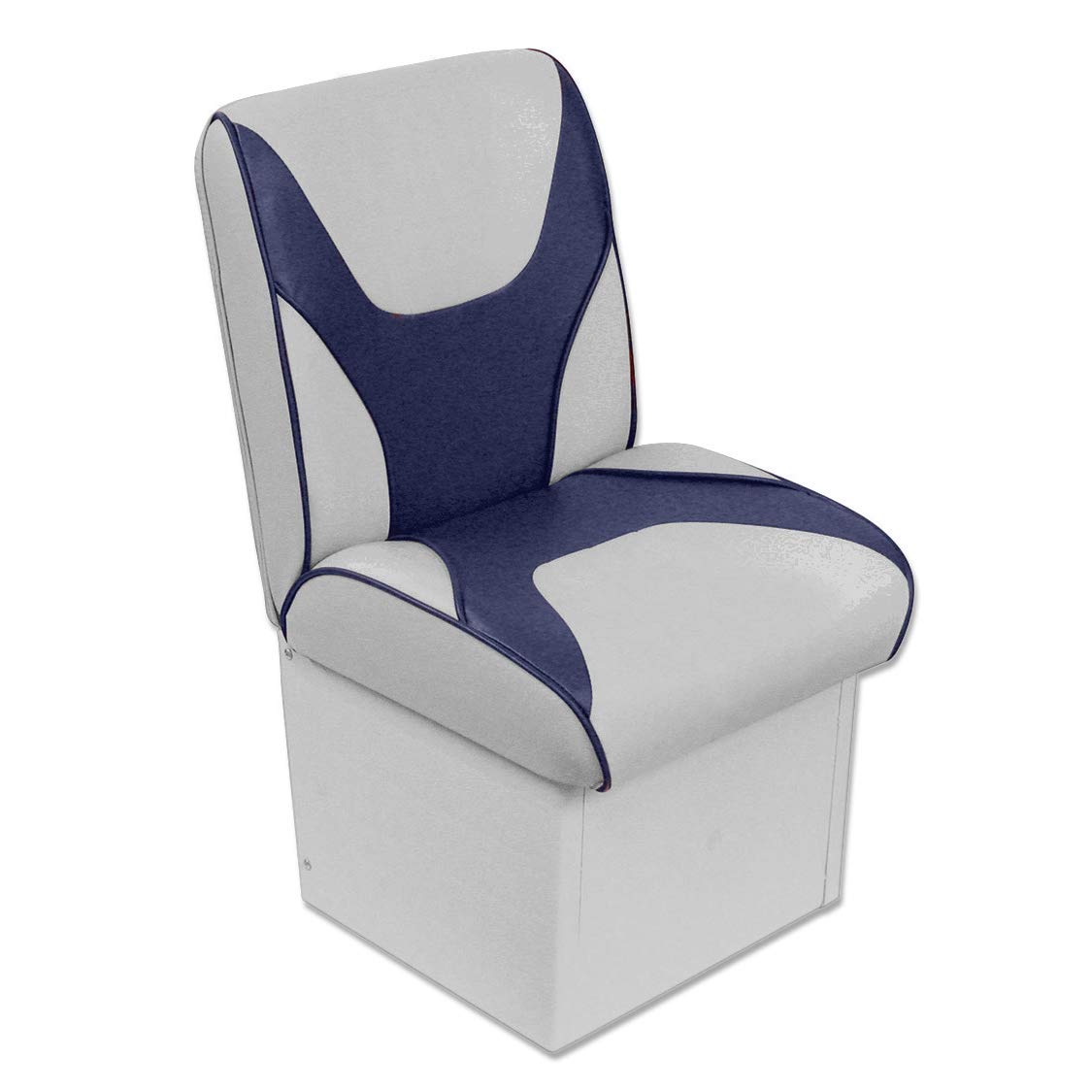 Overton's Deluxe Jump Seat with 8'' Base Gray/Navy by Overton's