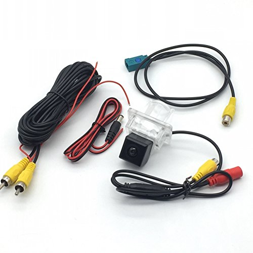 (AupTech CCD Rearview Camera Car Reverse Camera HD with Adaptor Fakra RCA Cable Plug to Original Screen for Mercedes Benz C Class W204 C180 C200 C280 C300 C350 C63 AMG 2007-2014 E-Class W212 2009-2015)
