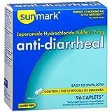 Sunmark Anti-Diarrheal Caplets - 96 ct, Pack of 6