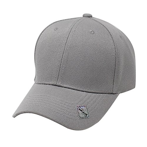 ChoKoLids Velcro Baseball Hat Adjustable Blank Cap Mid Profile Structured Baseball Cap (11 Colors) (Charcoal) (Structured Adjustable Baseball Hat)
