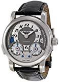 Montblanc Men's 'Nicolas Rieussec' Mechanical Hand Wind Stainless Steel and Leather Dress Watch, Color:Black (Model: 102337)