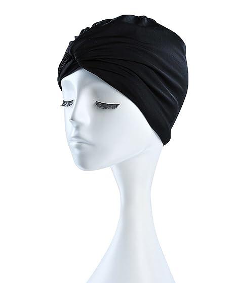 LINDALIN nuoto cappelli capelli lunghi Ear Wrap impermeabile cappello  cuffia da bagno per capelli lunghi a8da79ed5426