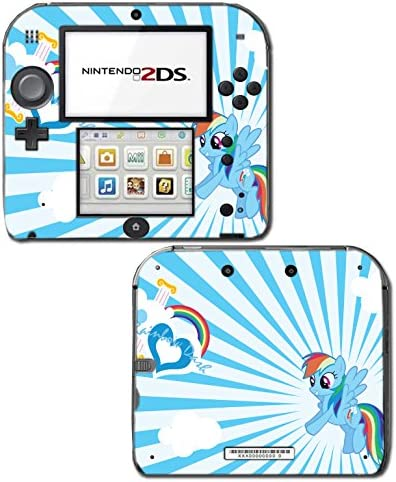 Rainbow Dash MLP My Little Pony Heart Video Game Vinyl Decal Skin Sticker Cover for Nintendo 2DS System Console