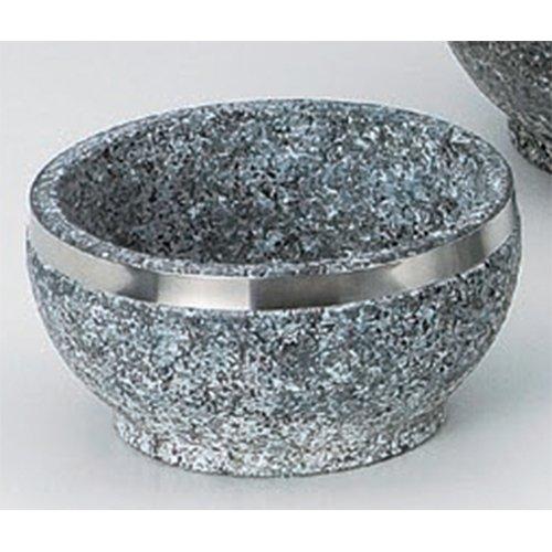 Korean Tableware utw483-22-674 [5.6 x 3 inch] Japanece ceramic 14cm stainless steel winding Ishinabe tableware