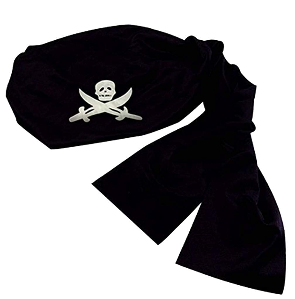 Pirate Headwrap Bandana Hat Adult One Size Jacobson Hat Company 18944BKAJ