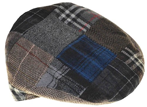 Hat Ivy Patchwork (NH Men's Wool Viscose Patchwork Ivy Hat (Medium))