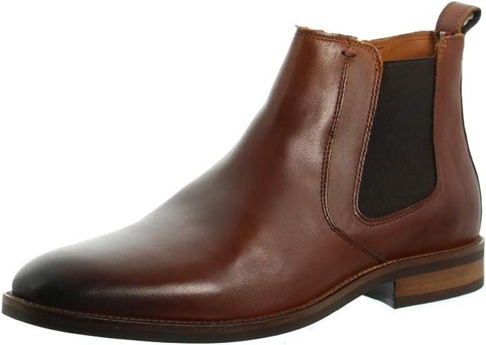 TALLA 44 EU. Tommy Hilfiger Essential Leather Chelsea Boot, Botas Clasicas para Hombre