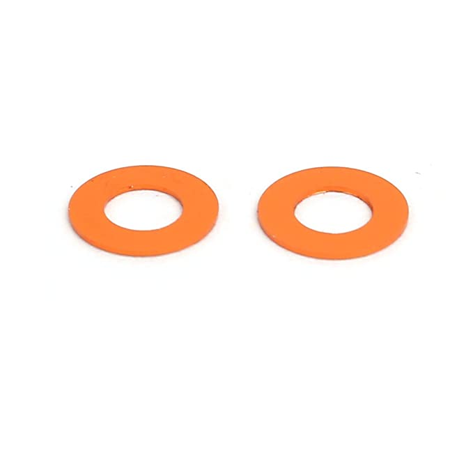 sourcing map 10Stk Unterlegscheiben 0.25mm Dicke M3 Orange Aluminium Legierung Schraube DE de