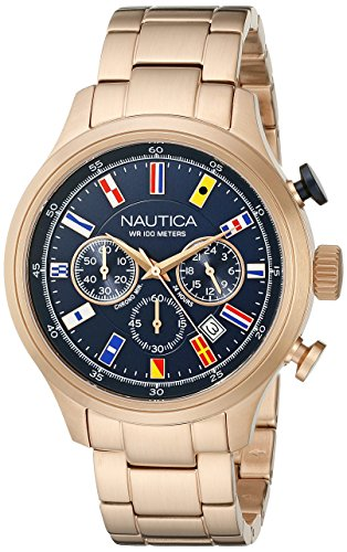 Nautica NAD21507G Analog Display Rose Gold