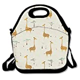 Nature Style Giraffes Lunch Bag Lunch Tote Lunch Pouch Handbag Made For Women, Men And Kids