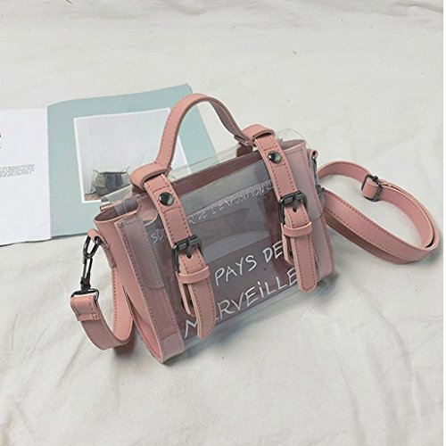 Bag Women Black Cute Shoulder Bag Handbags Fashion Mini Girls Bag Transparent Pink YJYDADA Small Print OwvRnq