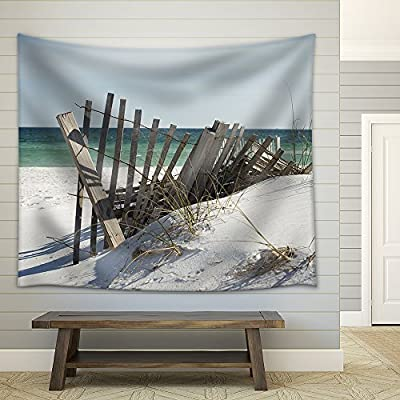 Beach Fence Near Pensacola Beach Florida Fabric Wall, Premium Creation, Magnificent Visual